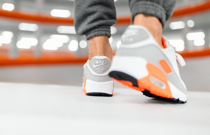 Nike Air Max 90 Orange Grey CT4352-103 on foot 03