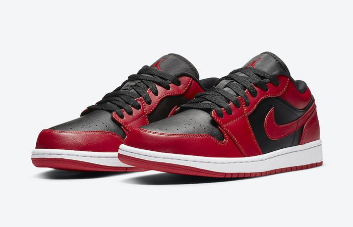 Nike Jordan 1 Low Red Black 553558-606 02