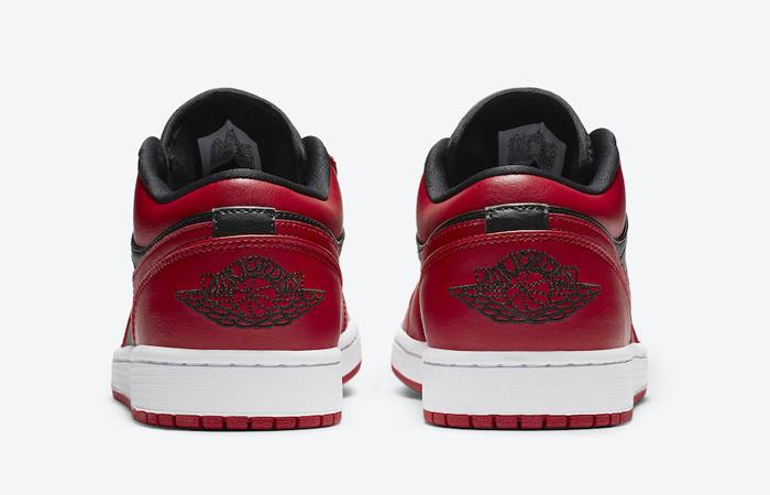 Nike Jordan 1 Low Red Black 553558-606 05