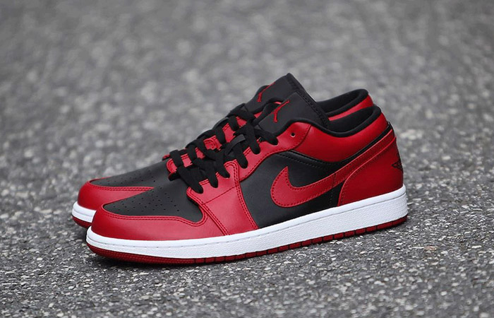 Nike Jordan 1 Low Red Black 553558-606 06