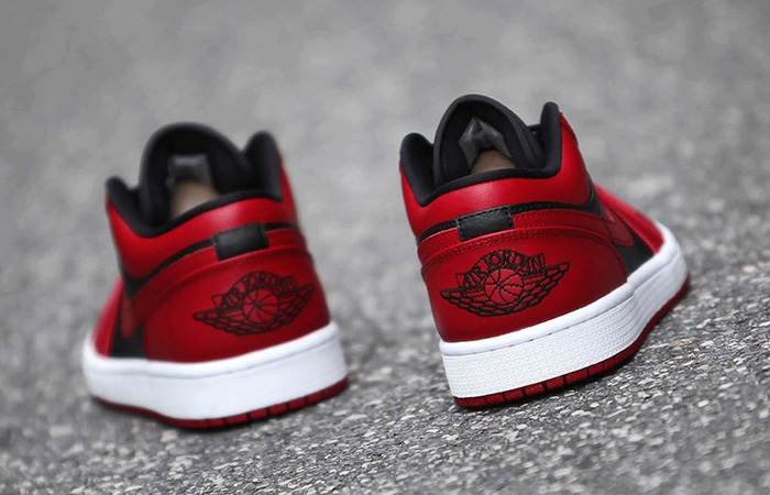 Nike Jordan 1 Low Red Black 553558-606 08