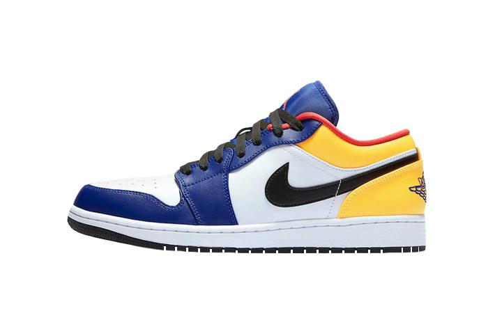 Nike Jordan 1 Low White Navy Yellow 553558-123 01
