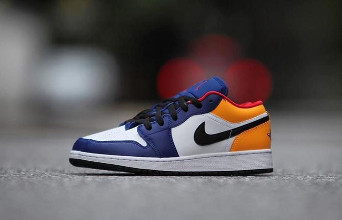 Nike Jordan 1 Low White Navy Yellow 553558-123 02