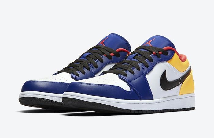 Nike Jordan 1 Low White Navy Yellow 553558-123 05
