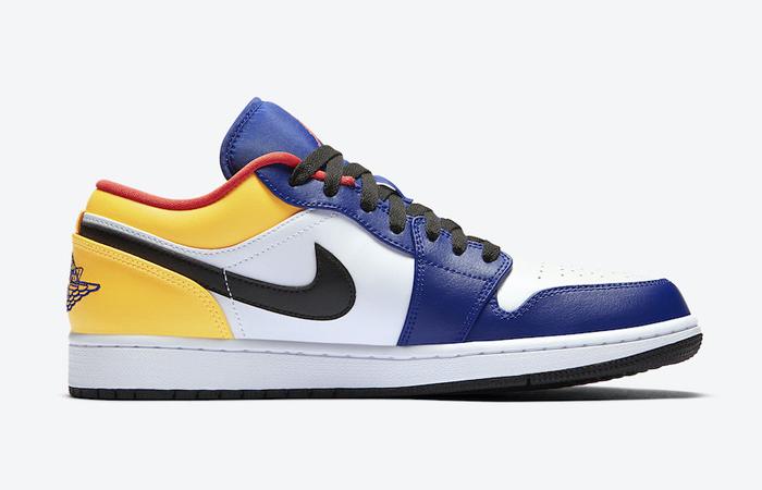 Nike Jordan 1 Low White Navy Yellow 553558-123 06