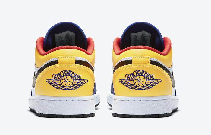Nike Jordan 1 Low White Navy Yellow 553558-123 08