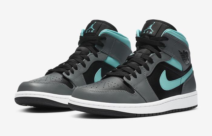 Nike Jordan 1 Mid Grey Aqua 554724-063 02