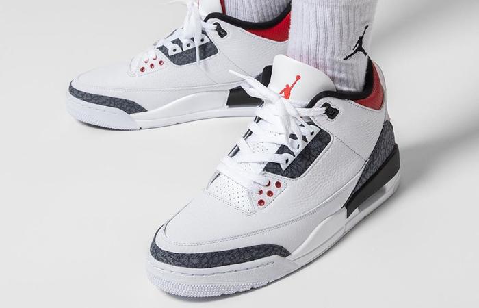 Nike Jordan 3 Japanese Denim White CZ6431-100 on foot 02