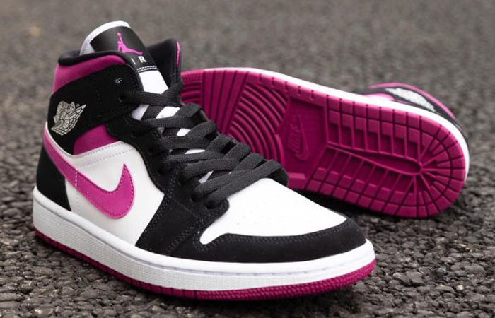 Nike Womens Jordan 1 Mid Purple BQ6472-005 02