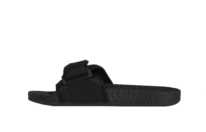 Pharrell William Boost Slide Black FX8056 01