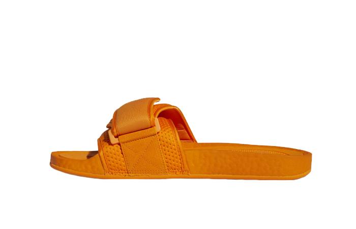Pharrell William Boost Slide Bright Orange FV7261 01
