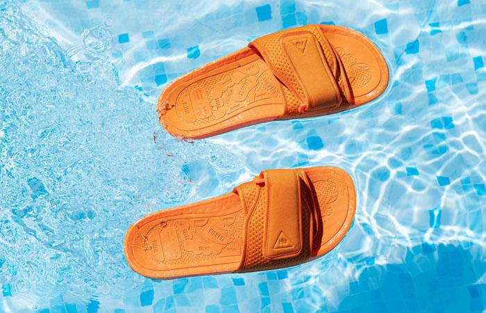 Pharrell William Boost Slide Bright Orange FV7261 02