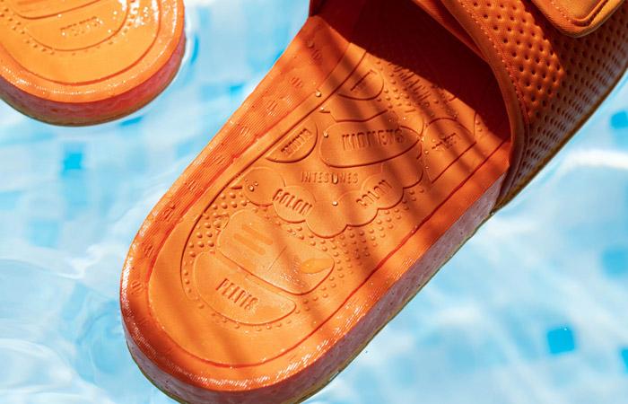 Pharrell William Boost Slide Bright Orange FV7261 04