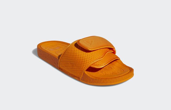 Pharrell William Boost Slide Bright Orange FV7261 05