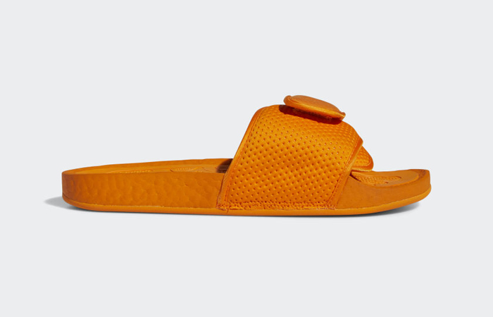 Pharrell William Boost Slide Bright Orange FV7261 06