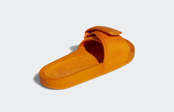Pharrell William Boost Slide Bright Orange FV7261 08