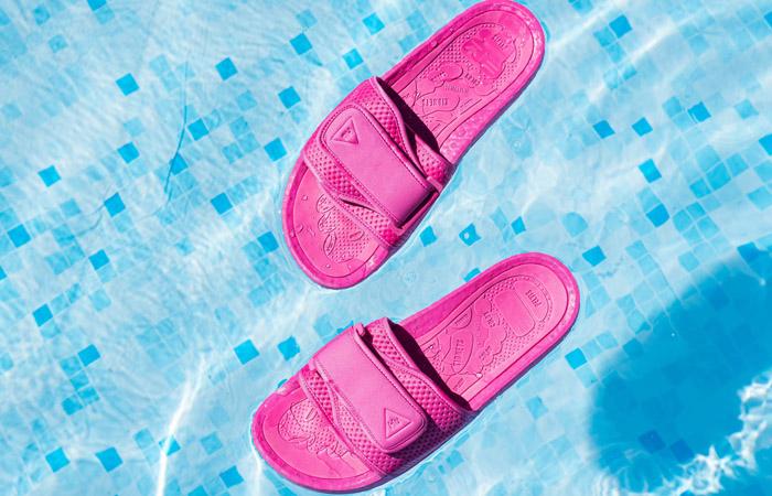 Pharrell William Boost Slide Semi Solar Pink FV7289 02