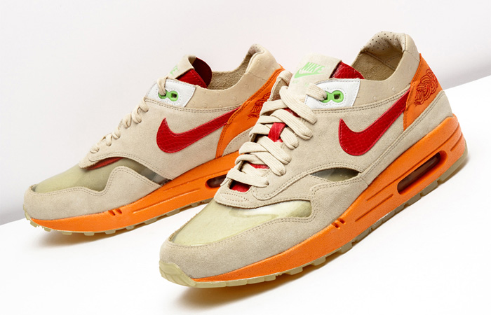 """The CLOT Nike Air Max 1 """"Kiss Of Death"""" Pack Will Be Dropping Next Year ft"""