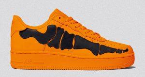 The Nike Air Force 1 Orange Skeleton Set To Drop This Halloween