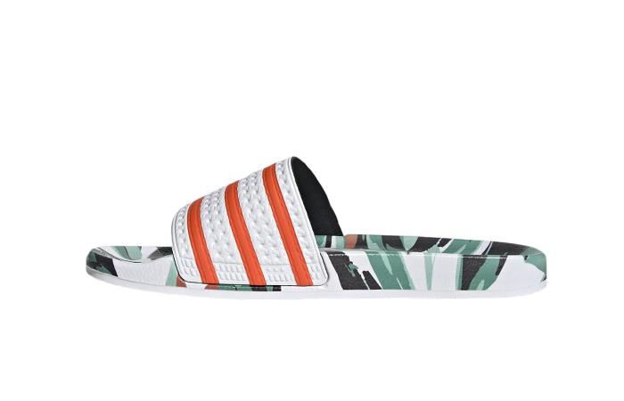 adidas Adilette Slides Jungle Leaf White FZ3824 01