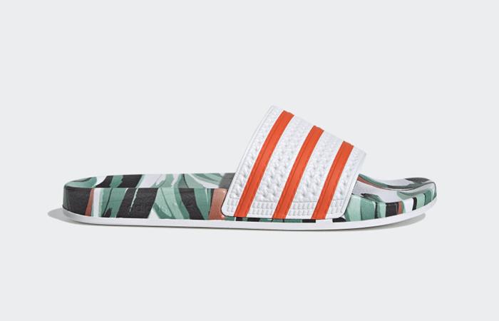 adidas Adilette Slides Jungle Leaf White FZ3824 03
