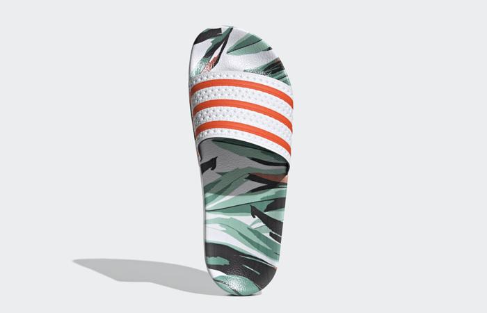 adidas Adilette Slides Jungle Leaf White FZ3824 04