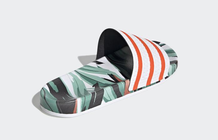 adidas Adilette Slides Jungle Leaf White FZ3824 05