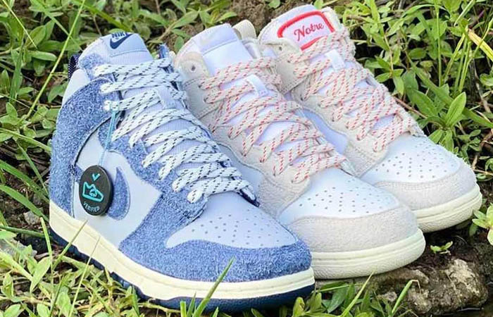 A Glance Look At The Notre Nike Dunk High Pack ft