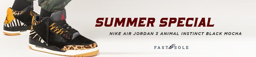 Nike Air Jordan 3 Animal Instinct Black Mocha