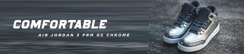 Air Jordan 3 PRM GS Chrome