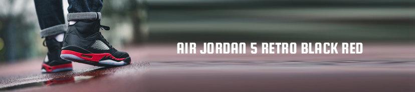 Air Jordan 5 Retro Black Red