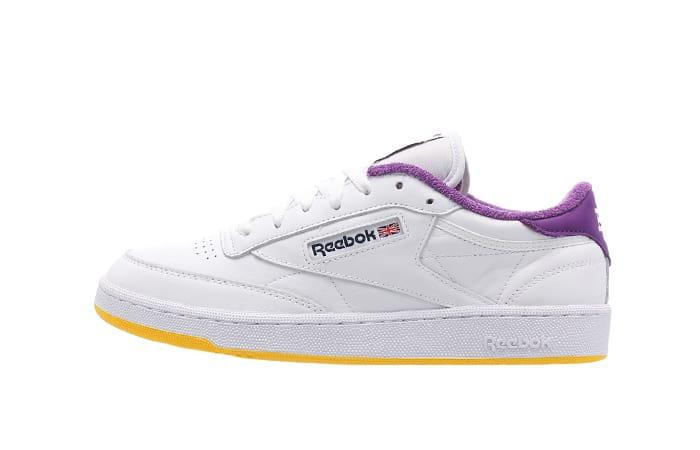Eric Emanuel Reebok Club C 85 White Purple Yellow FY3411 01