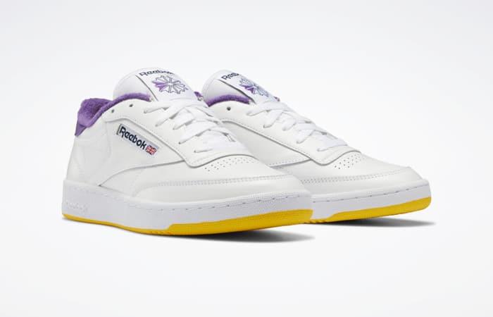 Eric Emanuel Reebok Club C 85 White Purple Yellow FY3411 05