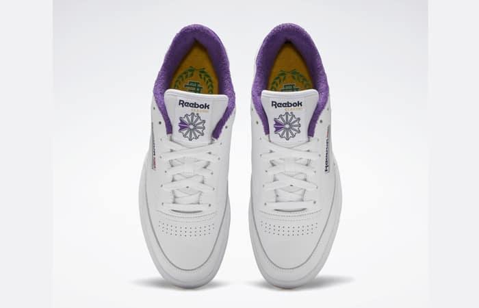 Eric Emanuel Reebok Club C 85 White Purple Yellow FY3411 07