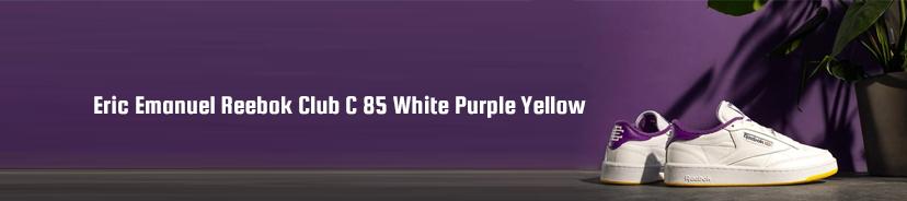 Eric Emanuel Reebok Club C 85 White Purple Yellow