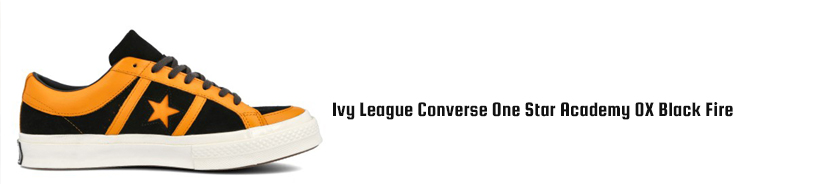 Ivy League Converse One Star Academy OX Black Fire