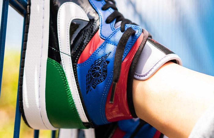 Jordan 1 Mid Womens Patent Multi CV5276-001 on foot 03