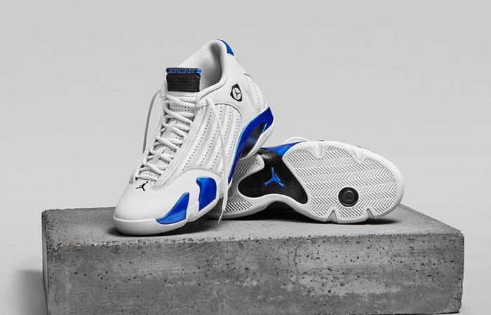 Jordan 14 Retro White Hyper Royal 487471-104 02
