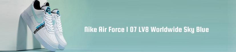 Nike Air Force 1 07 LV8 Worldwide Sky Blue