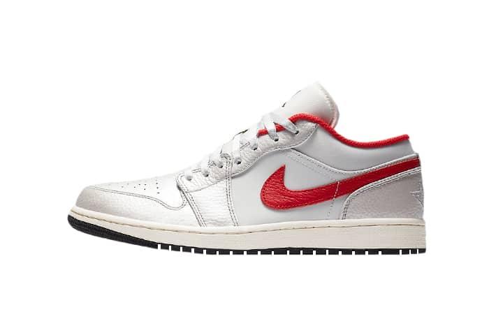 Nike Air Jordan 1 Low Premium Grey University Red DA4668-001 01