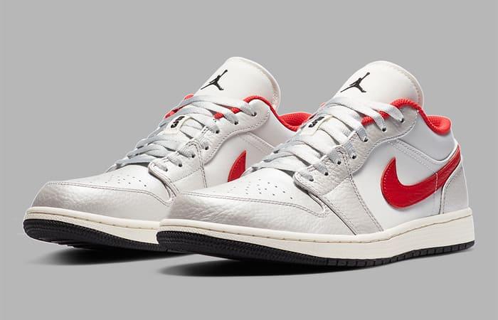 Nike Air Jordan 1 Low Premium Grey University Red DA4668-001 02