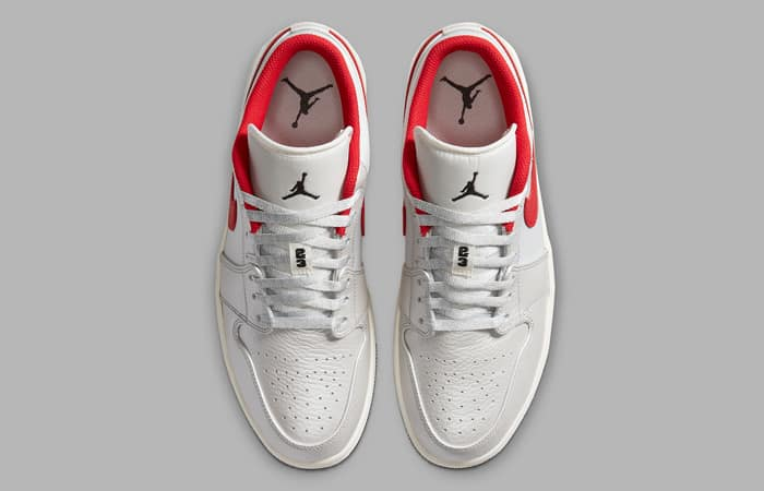 Nike Air Jordan 1 Low Premium Grey University Red DA4668-001 04