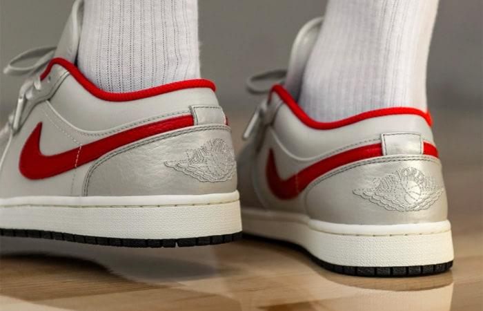 Nike Air Jordan 1 Low Premium Grey University Red DA4668-001 on foot 03