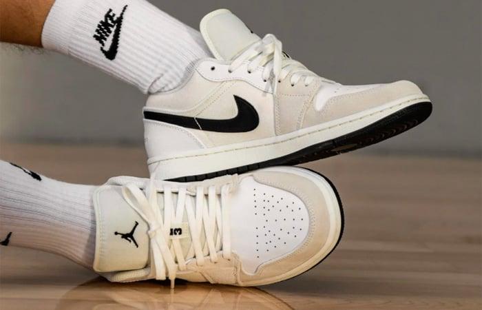 Nike Air Jordan 1 Low Premium Sail DC3533-100 on foot 02