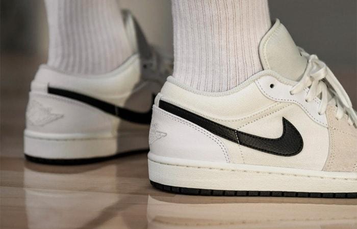Nike Air Jordan 1 Low Premium Sail DC3533-100 on foot 03