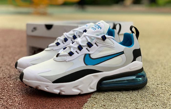 Nike Air Max 270 React White Blue CT1280-101 03