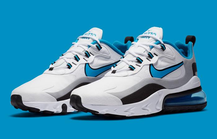 Nike Air Max 270 React White Blue CT1280-101 05