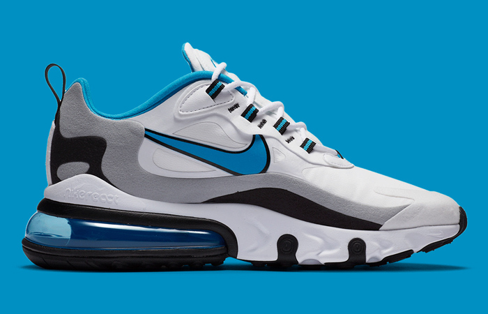 Nike Air Max 270 React White Blue CT1280-101 06