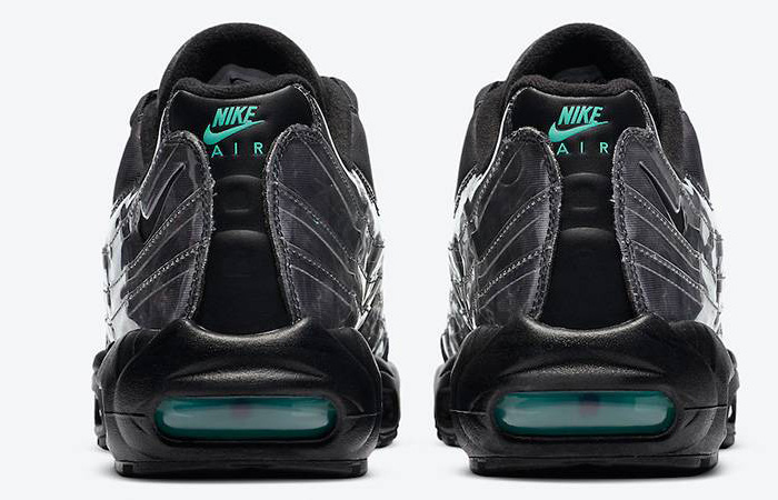 Nike Air Max 95 Black Aurora Grey DA7735-001 back
