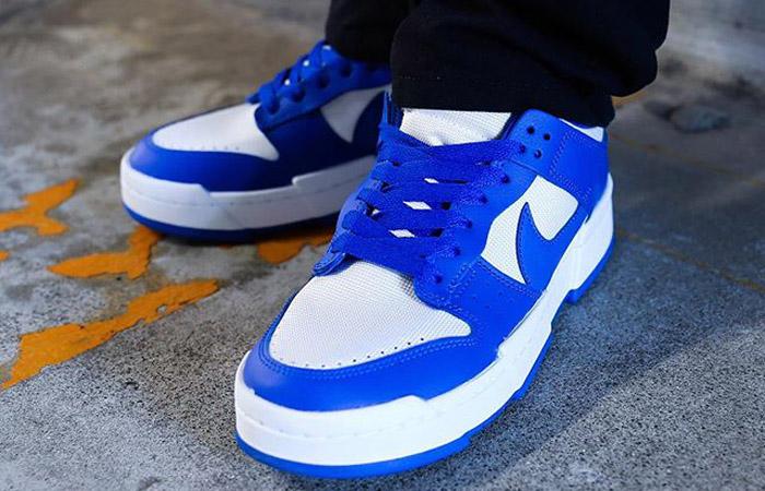 Nike Dunk Low Disrupt Royal Blue CK6654-100 on foot 01